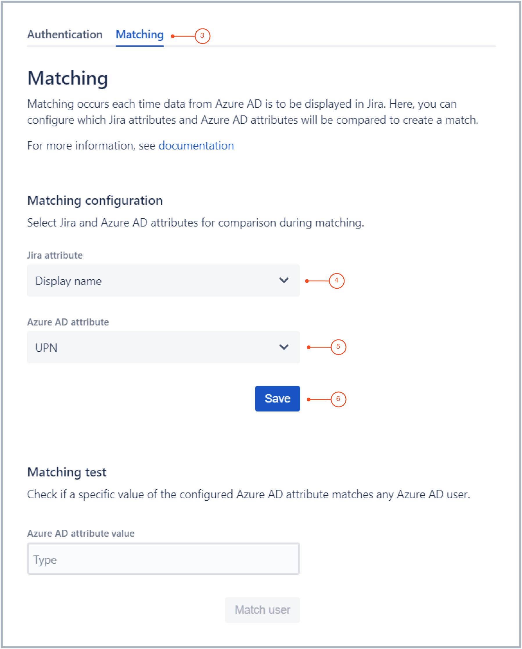 Configuring Matching