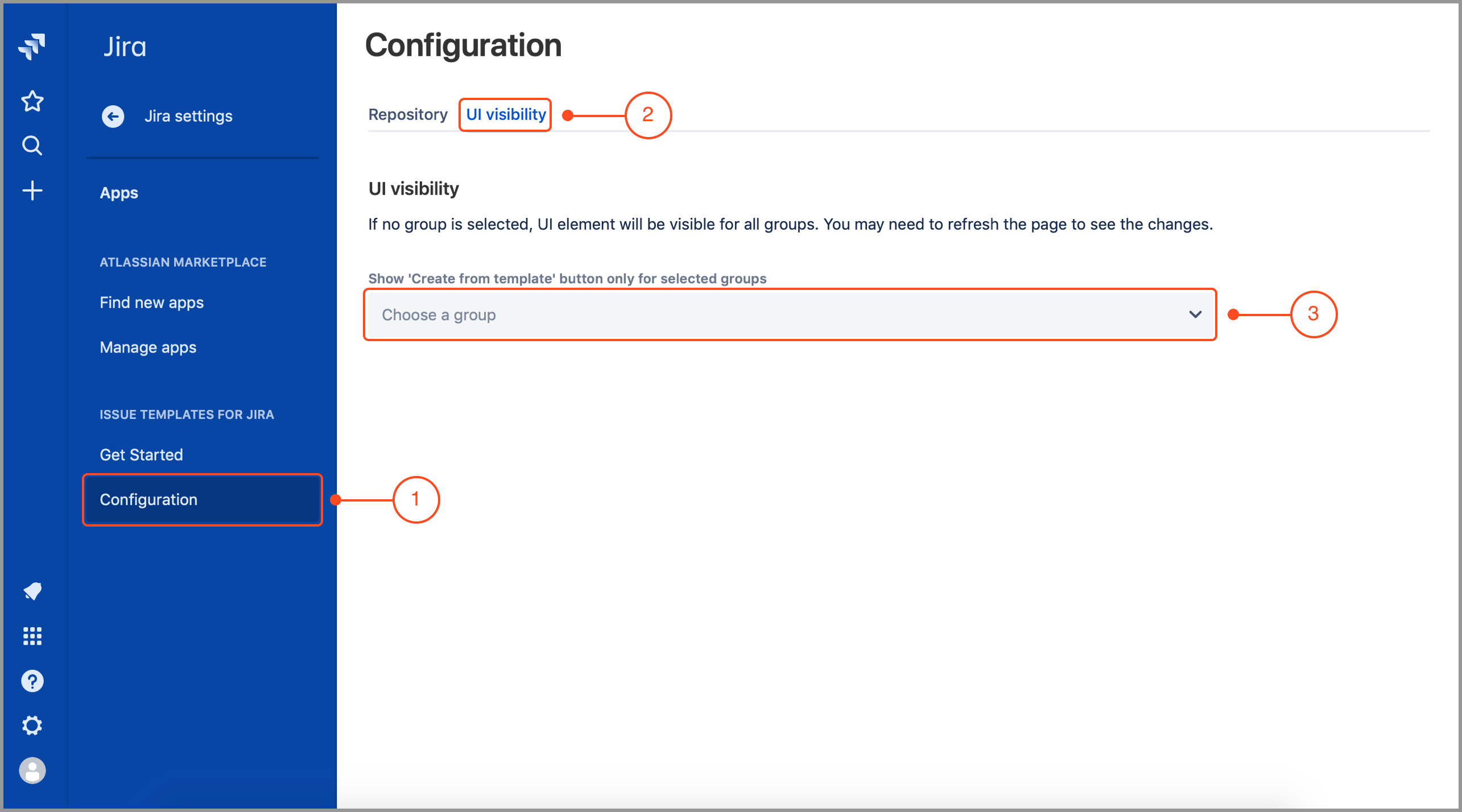 Issue Templates for Jira Cloud: UI visibility