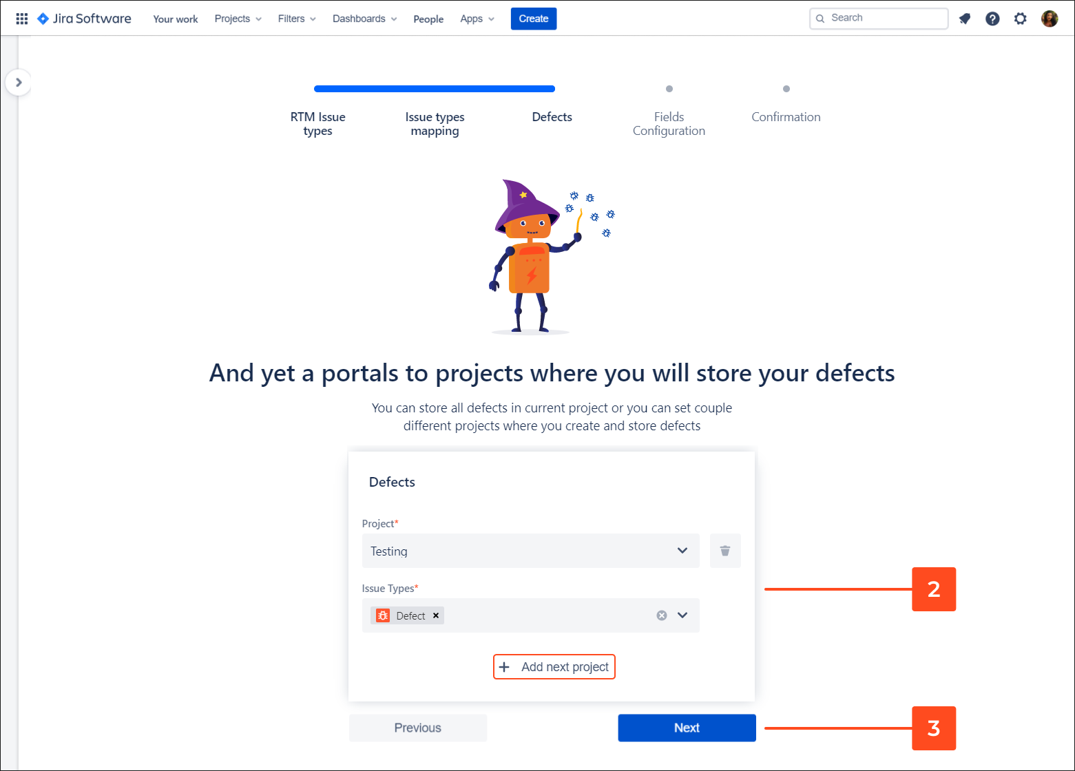 Add defect to project with Requirements and Test Management for Jira