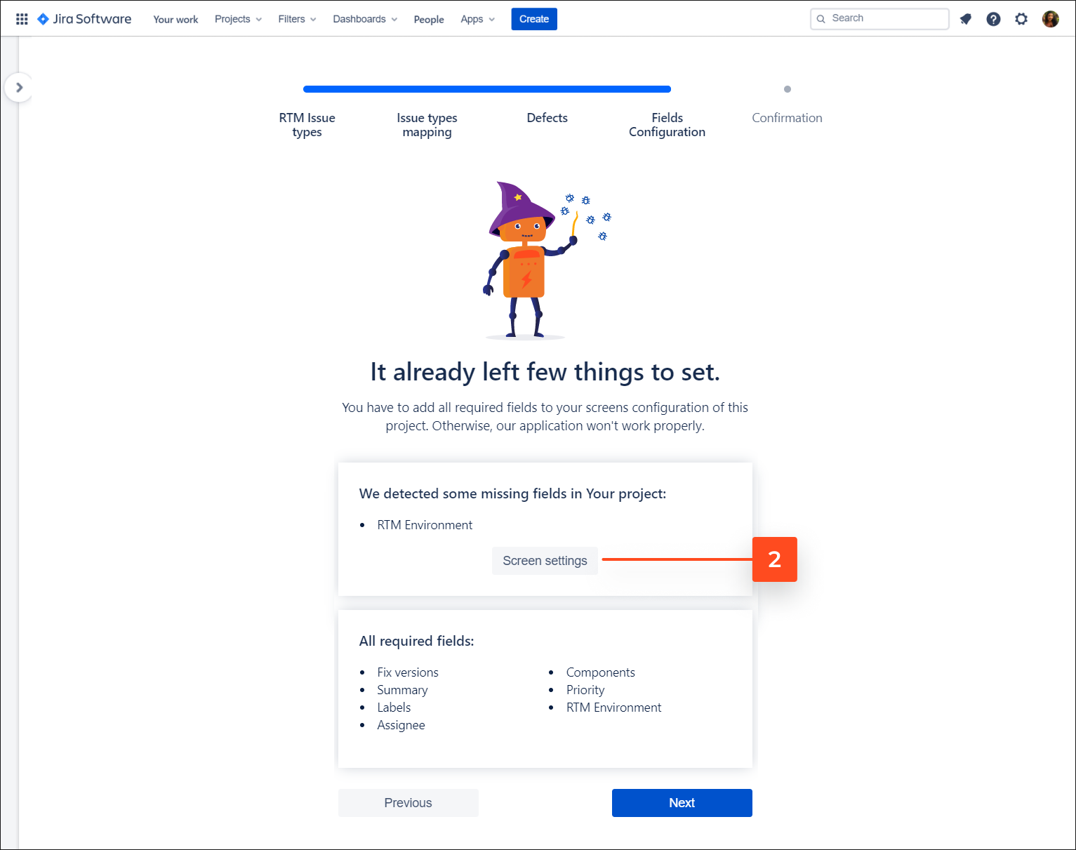 Add all required fields to your screens with Requirements and Test Management for Jira