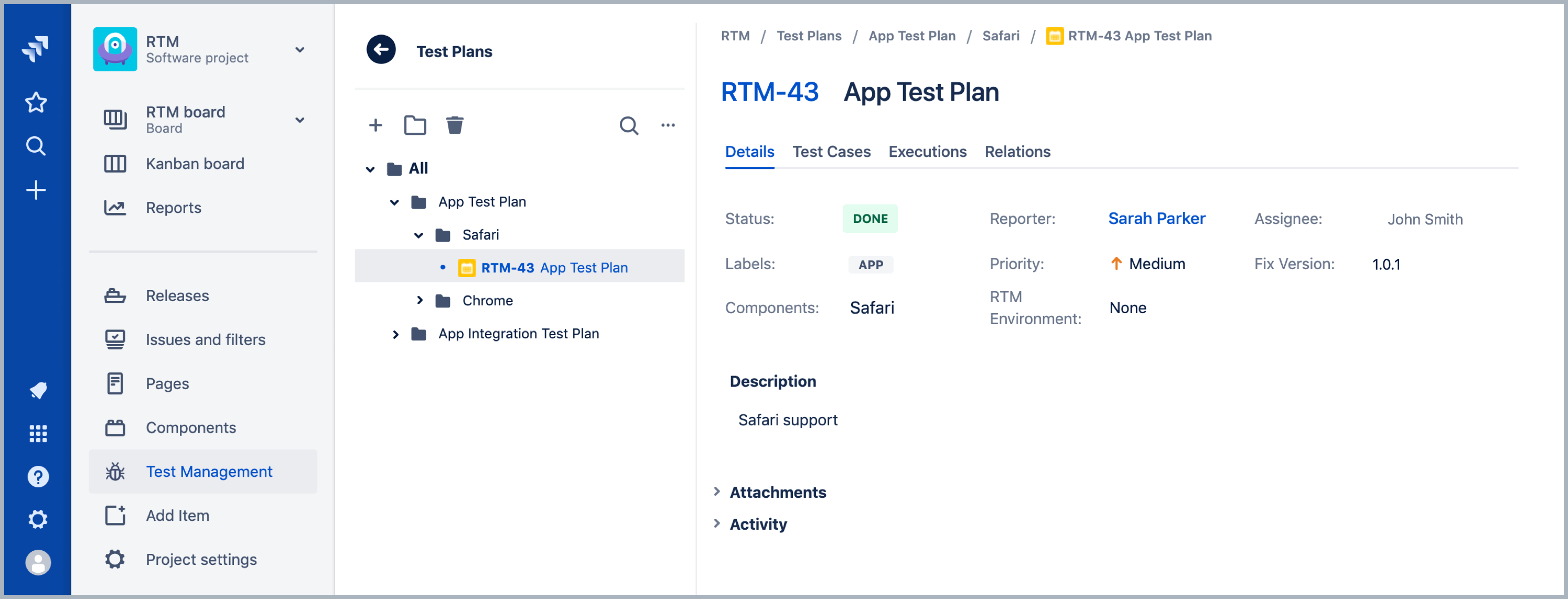 Test Plan - Requirements and Test Management for Jira