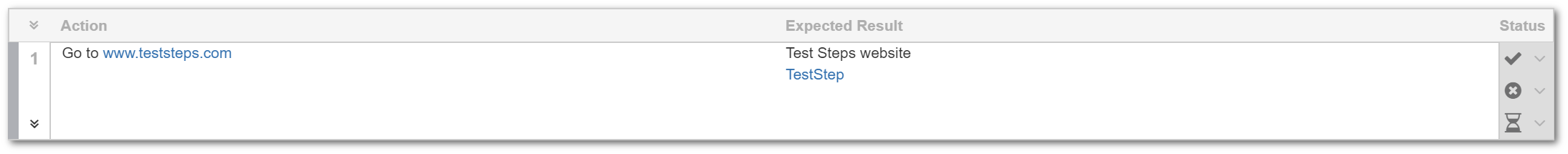 TestFLO Cloud: Collapsed Steps view