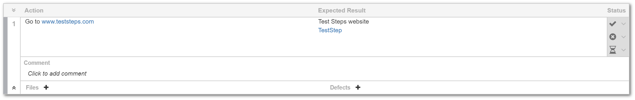 TestFLO Cloud: Expanded Steps view