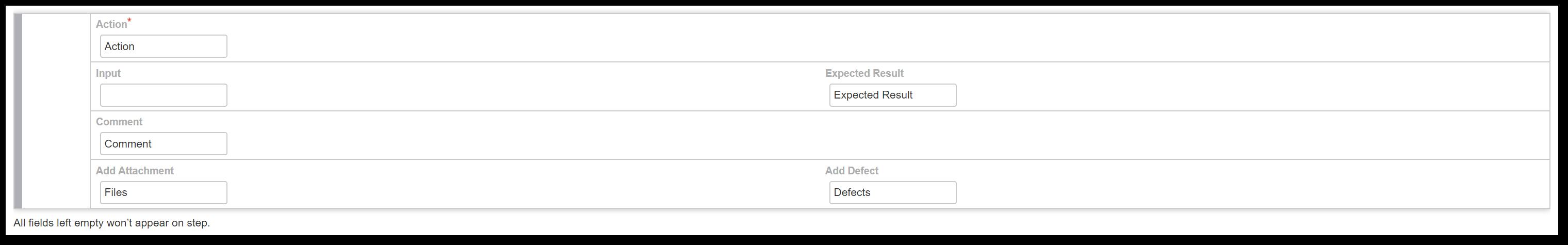 TestFLO Cloud: Steps field labels configuration