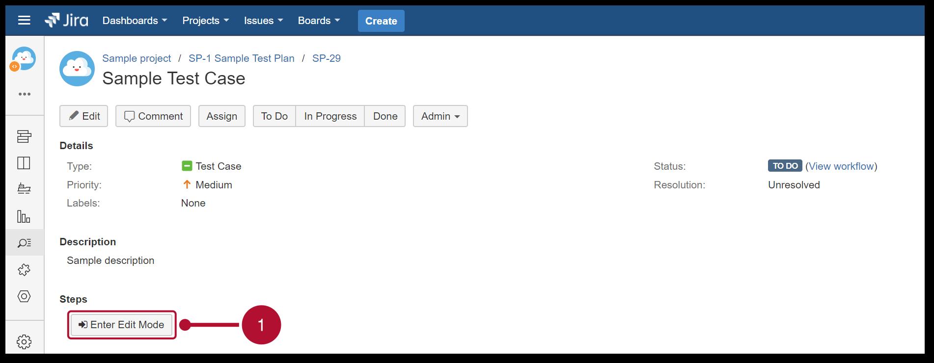 TestFLO Cloud: Steps edit mode