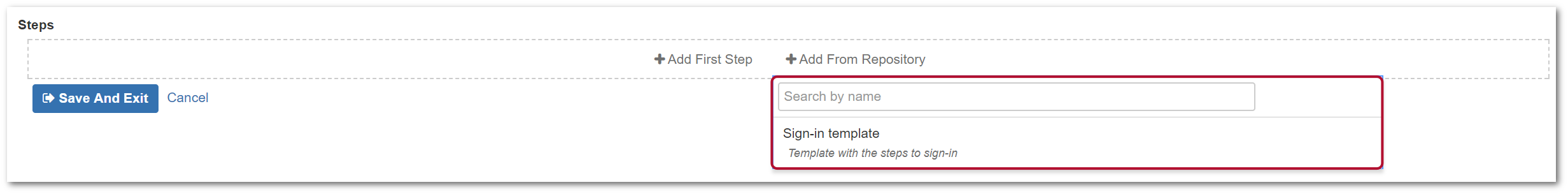 TestFLO Cloud: Adding Steps from repository