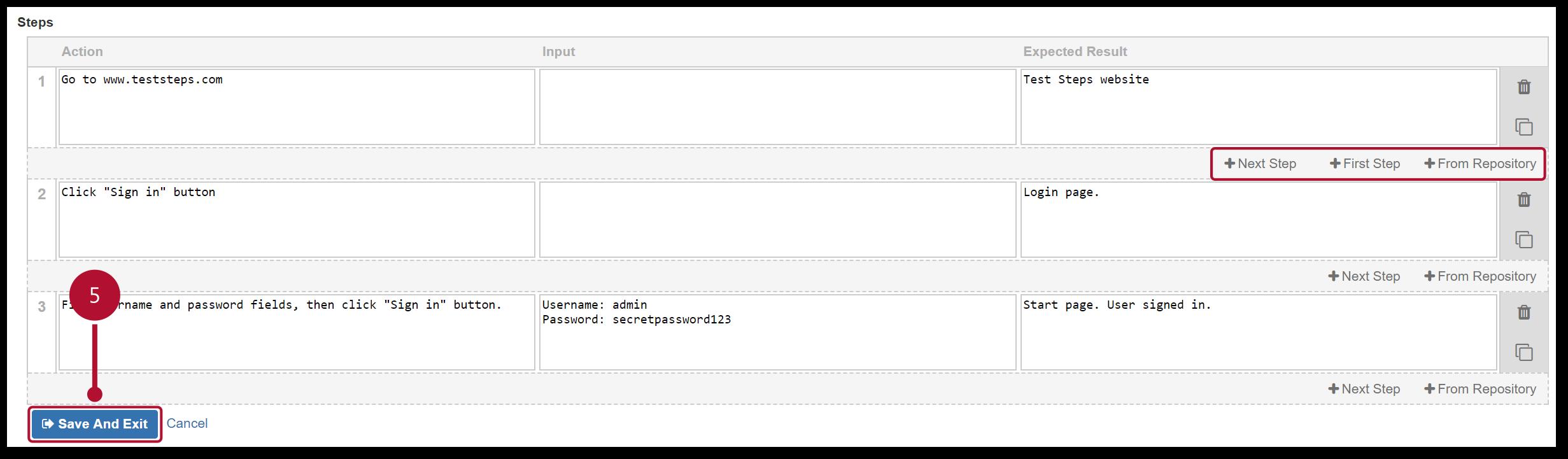TestFLO Cloud: Adding more Steps
