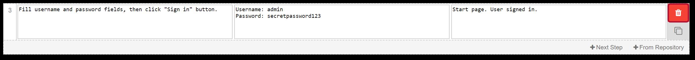 TestFLO Cloud: Delete Step
