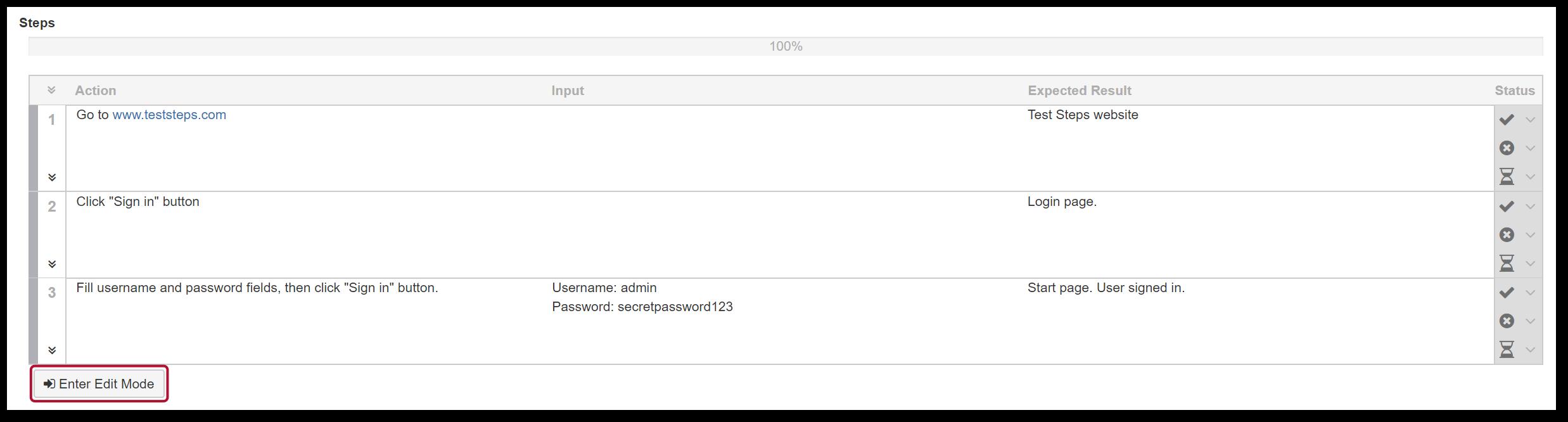 TestFLO Cloud: Modify Steps