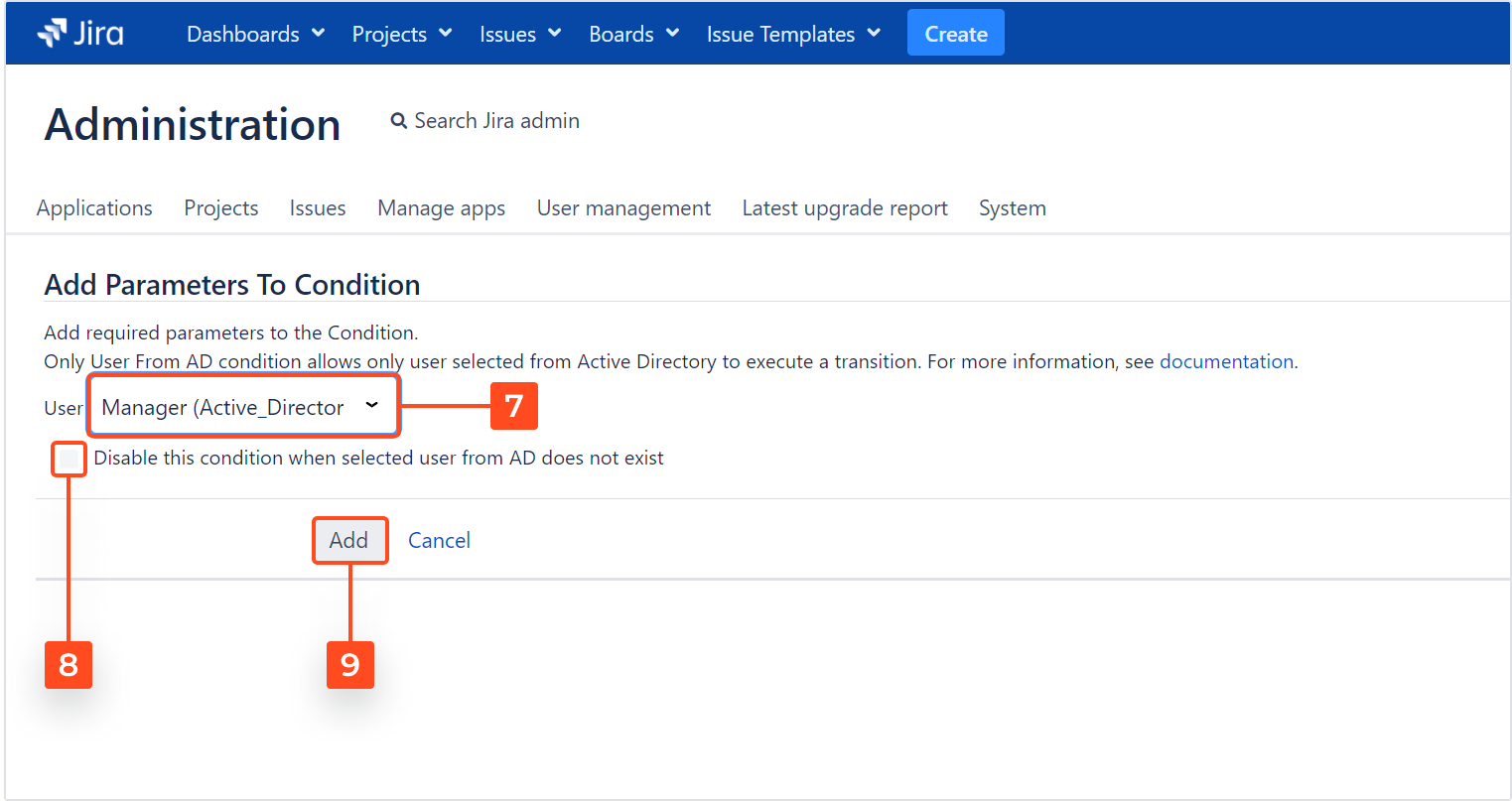 Active Directory Attributes Sync for Jira - Presenting synchronized data in Jira issues: Configure the AD custom field