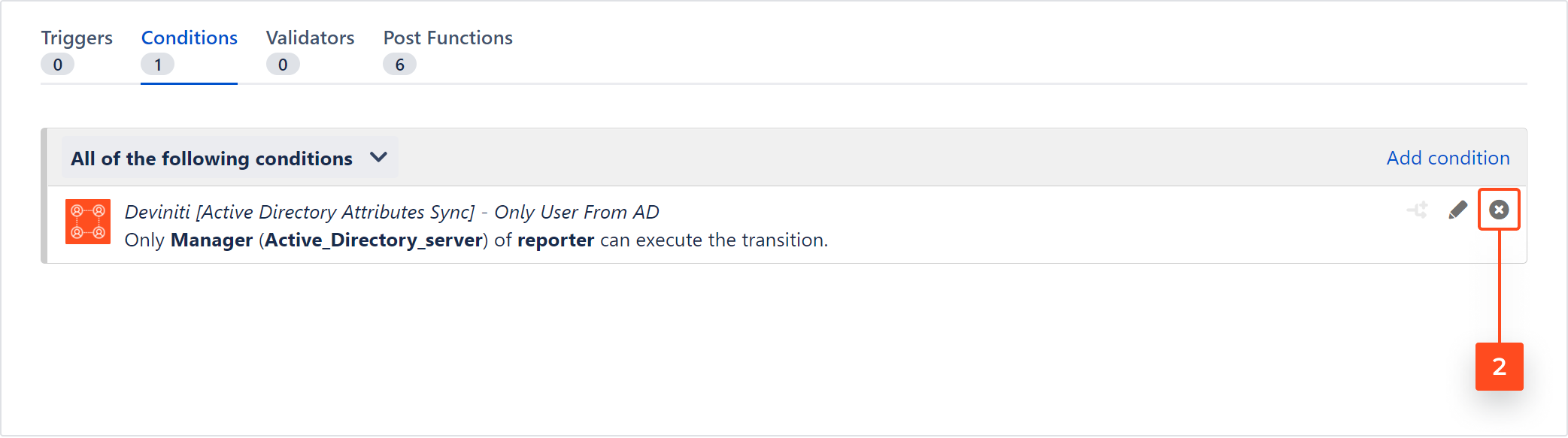 Active Directory Attributes Sync for Jira - Removing the Only User From AD condition