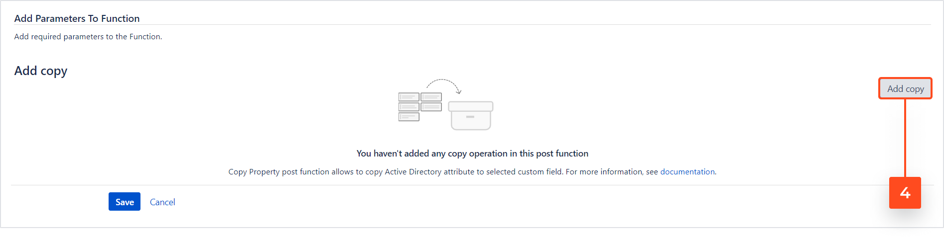 Active Directory Attributes Sync for Jira - Copy Property: Add Post Function