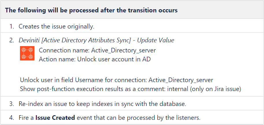 Active Directory Attributes Sync for Jira - Update Data: Reposition the post function