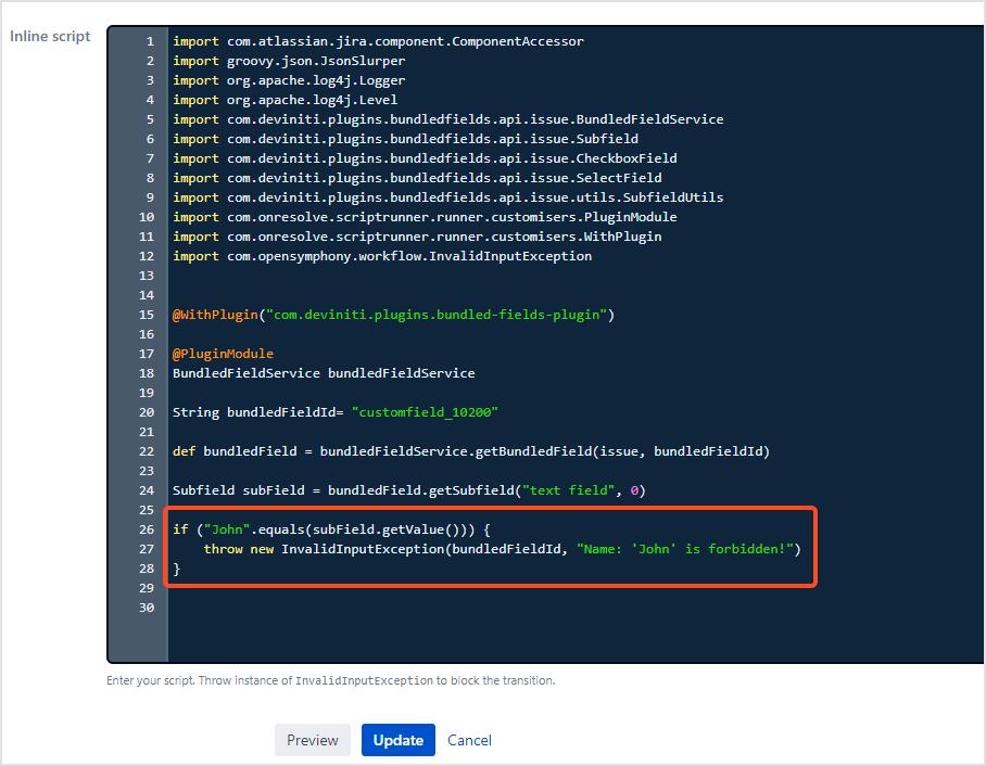Bundled Fields Java API - Validation Script