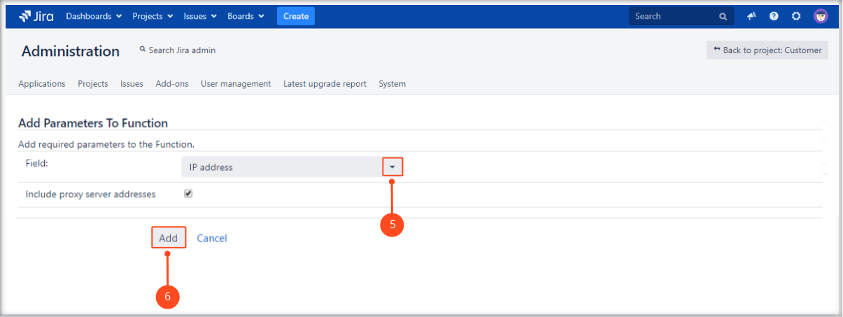 Adding user's IP address post function with Extension for Jira Service Management by adding a field