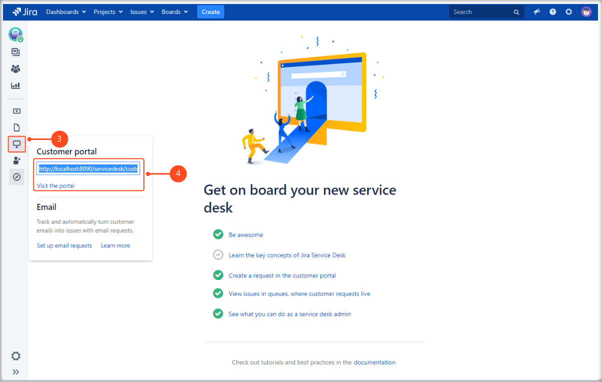 Now you can check how the Multilevel Structure works on the Customer Portal with Extension for Jira Service Management