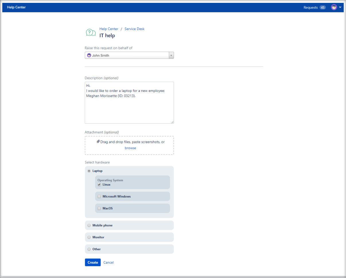 Now you can create Jira Service Management requests with Multilevel Structure configuration