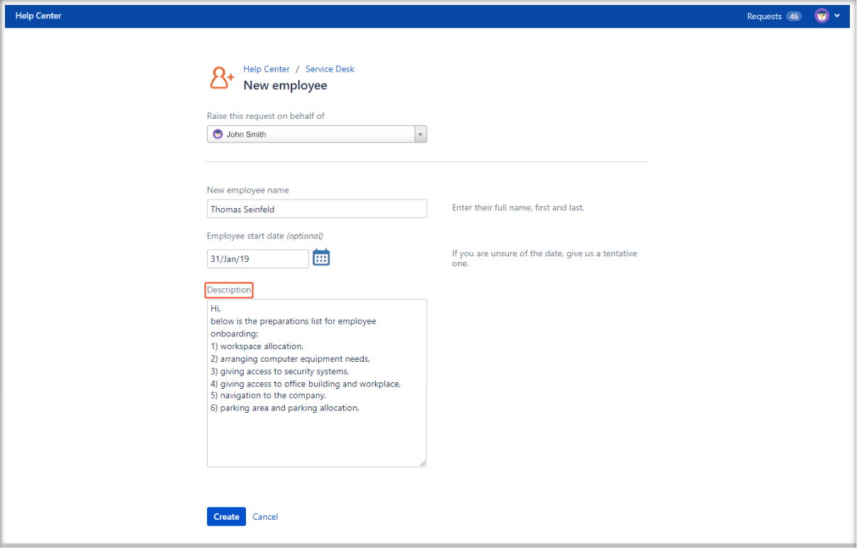 Now you can create Jira Service Management requests with required fields configuration