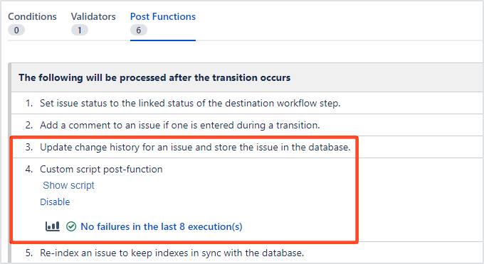 Bundled Fields Java API - ScriptRunner postfunction's order