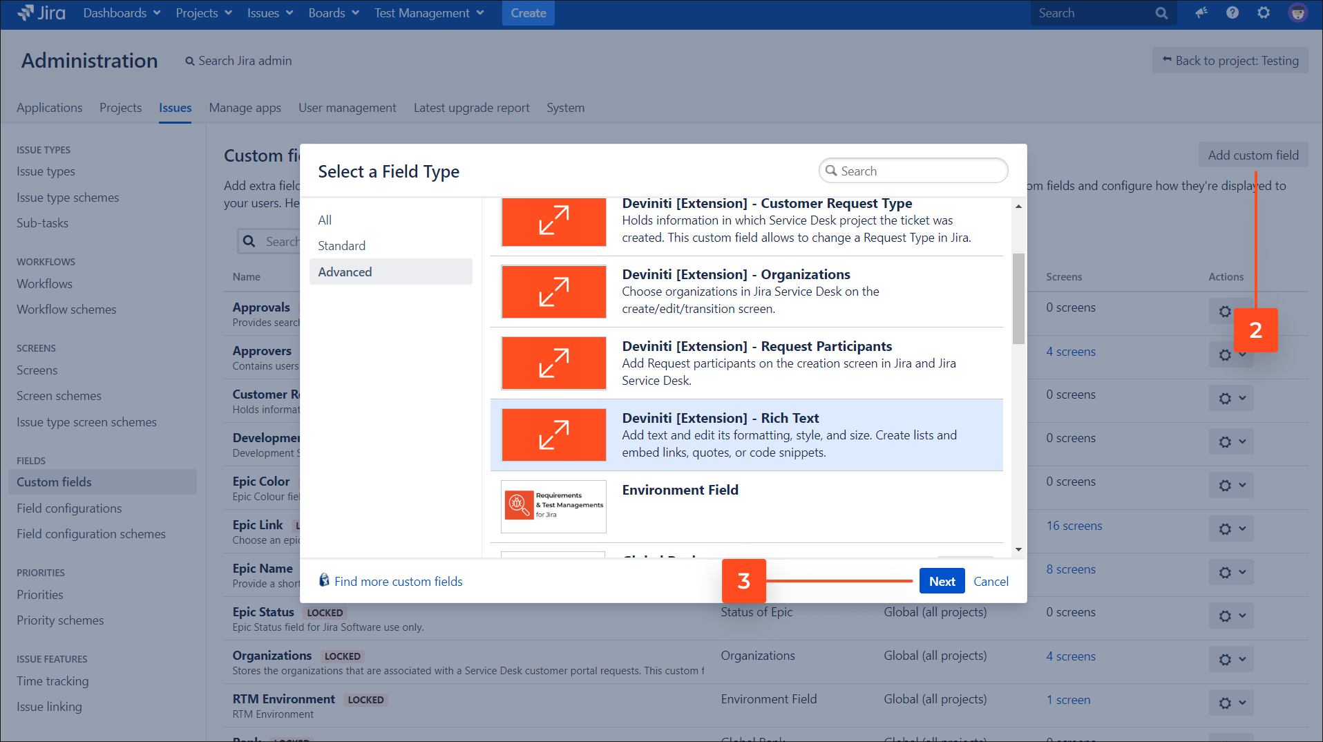 Add Rich Text custom field on the Customer Portal with Extension for Jira Service Management app