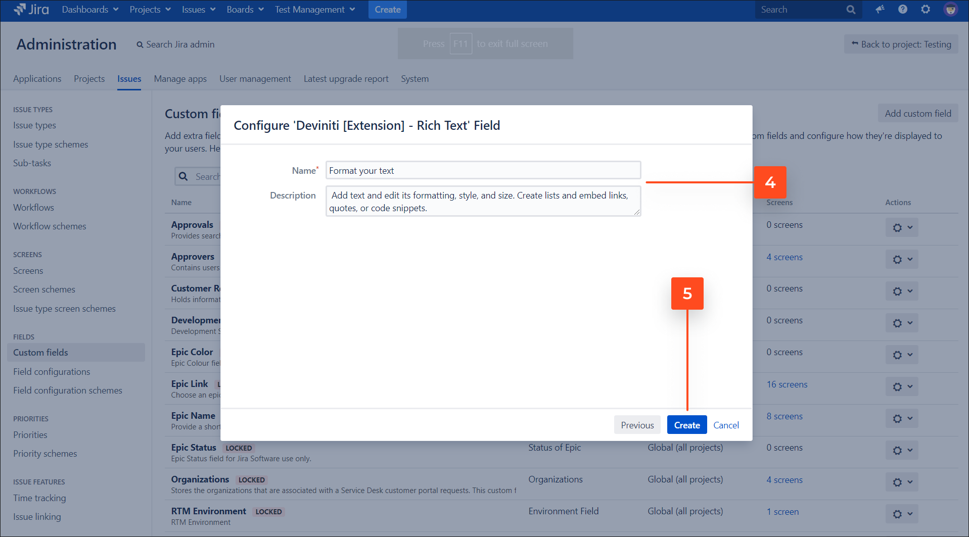 Create Rich Text custom field on the Customer Portal with Extension for Jira Service Management app