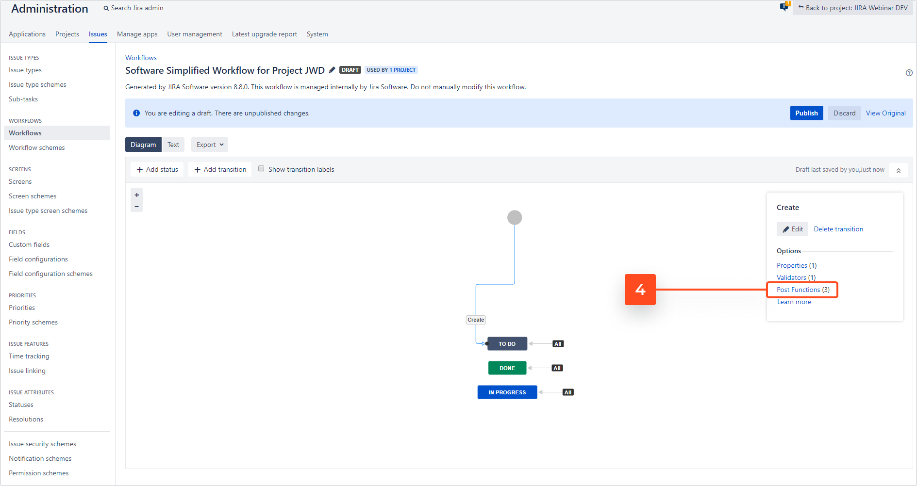Issue Templates for Jira - Create Structure: Add Post Function