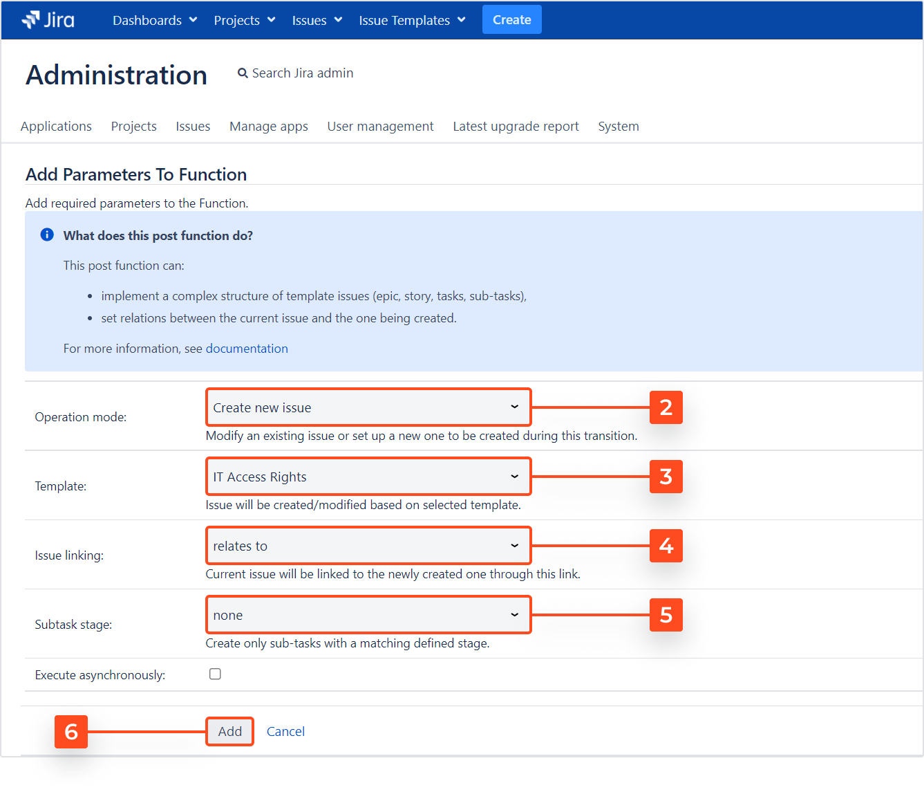 Issue Templates for Jira - Create Structure: Create New Issue