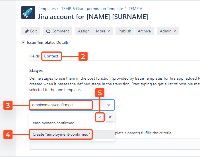 Issue Templates for Jira - Create Structure: Create Sub-task During Transition