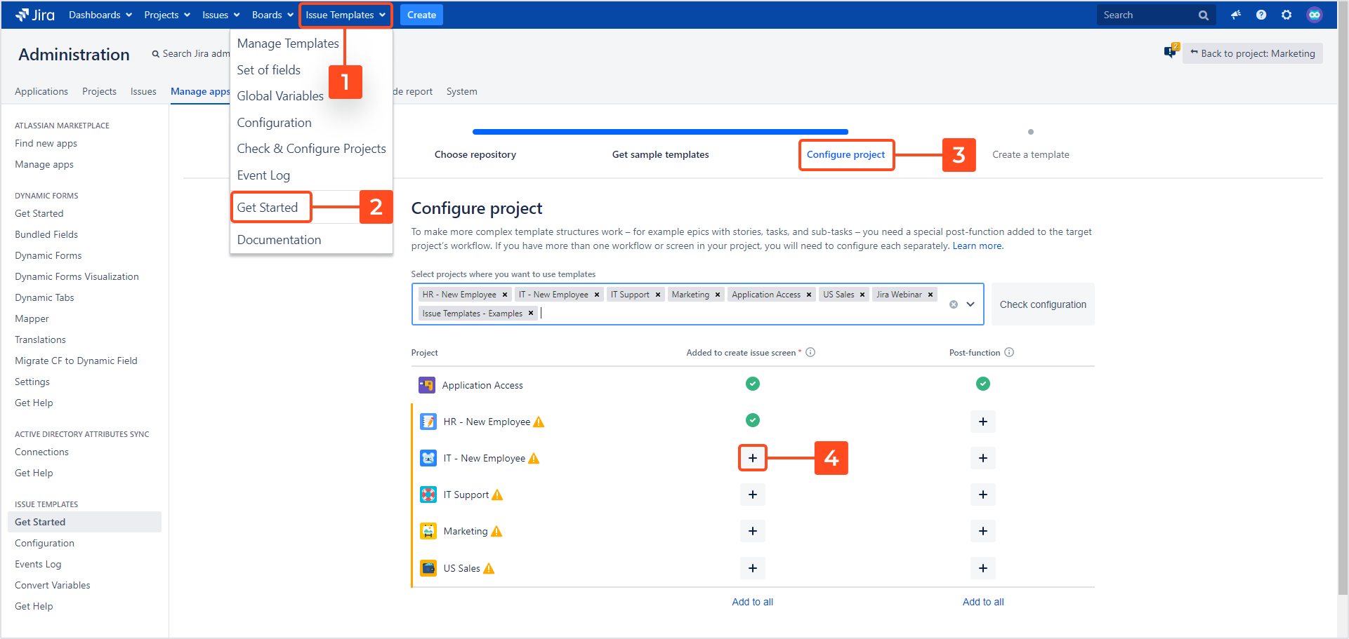 Issue Templates for Jira - Initial Project Configuration