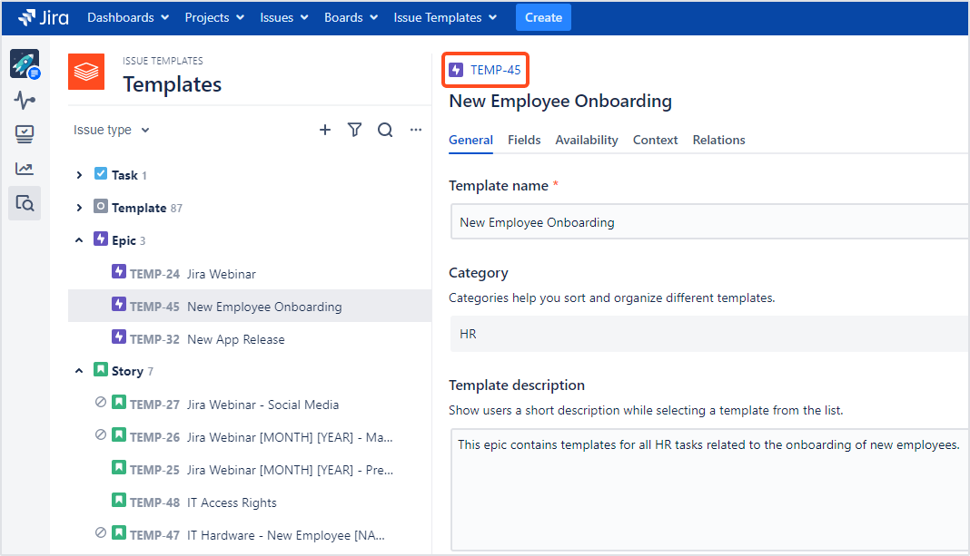 Issue Templates for Jira - Open the Issue View