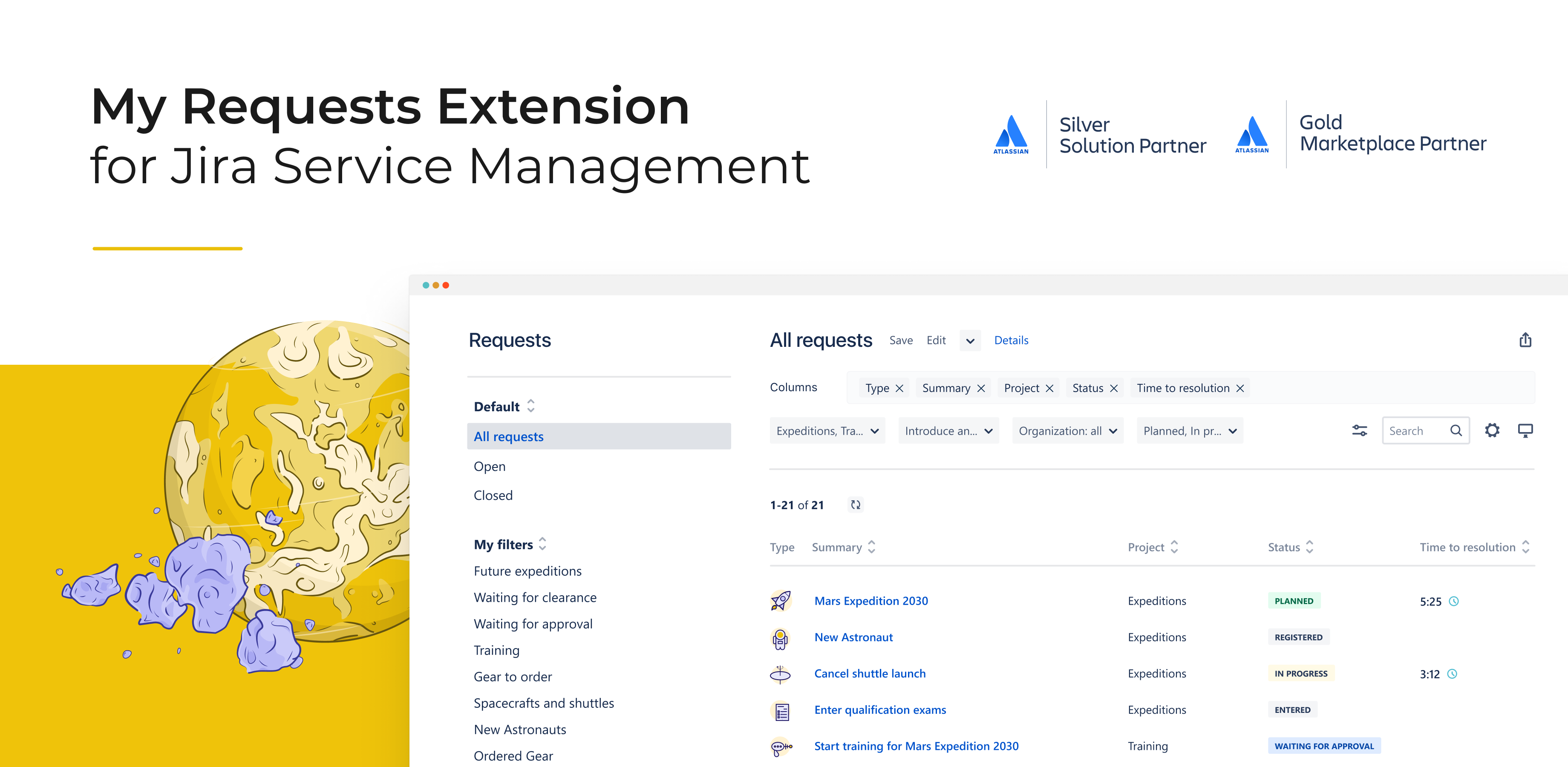 My Requests Extension for Jira Service Management