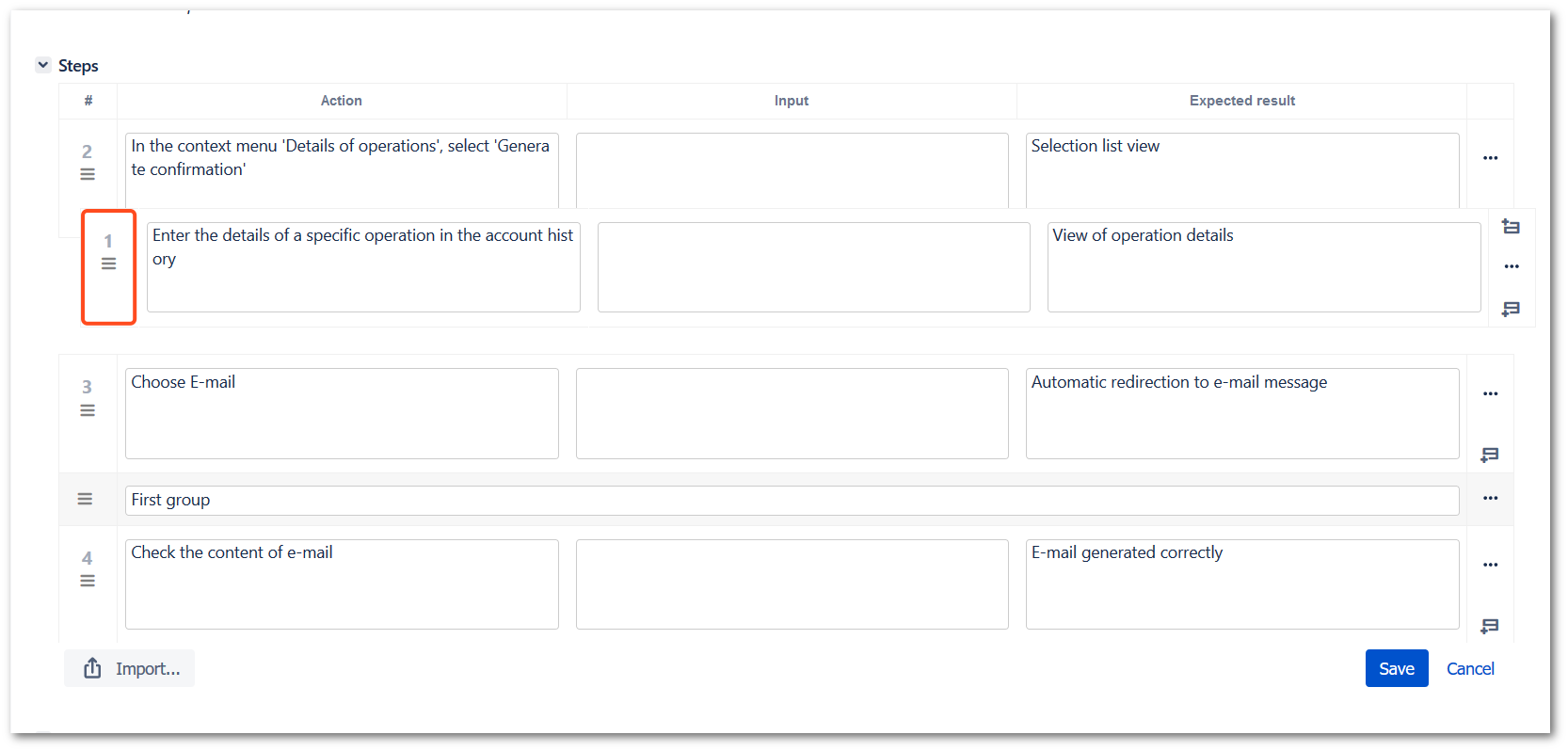View steps with TestFLO Jira Test Management