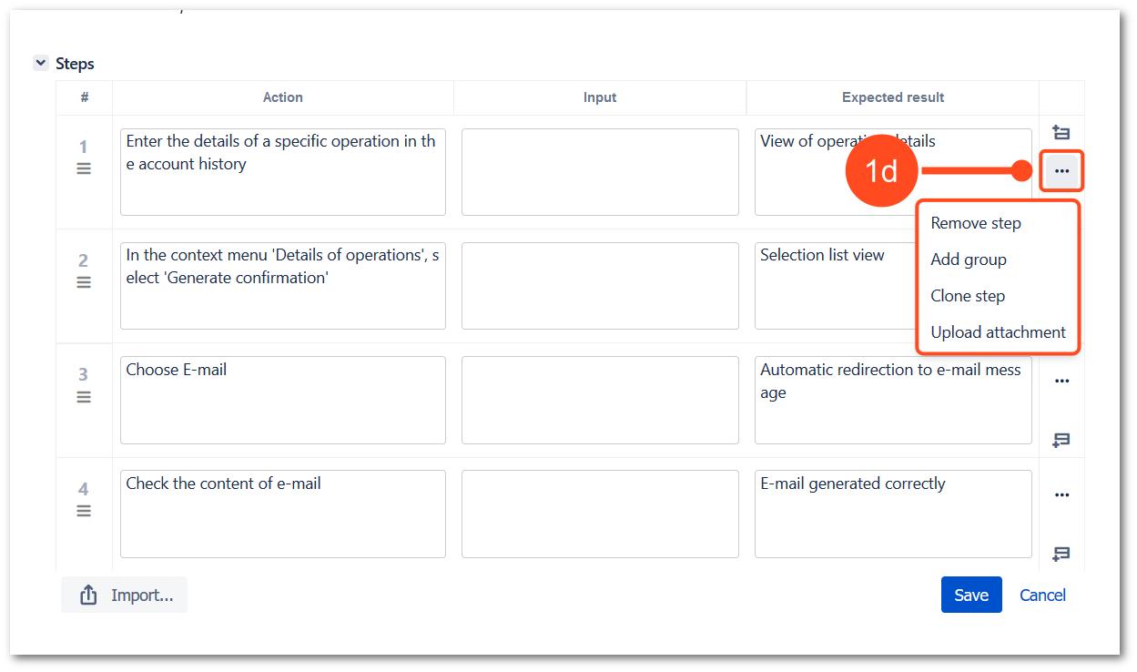 Add steps with TestFLO Jira Test Management