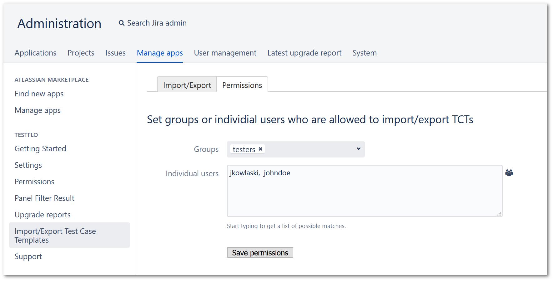 TestFLO import export tests