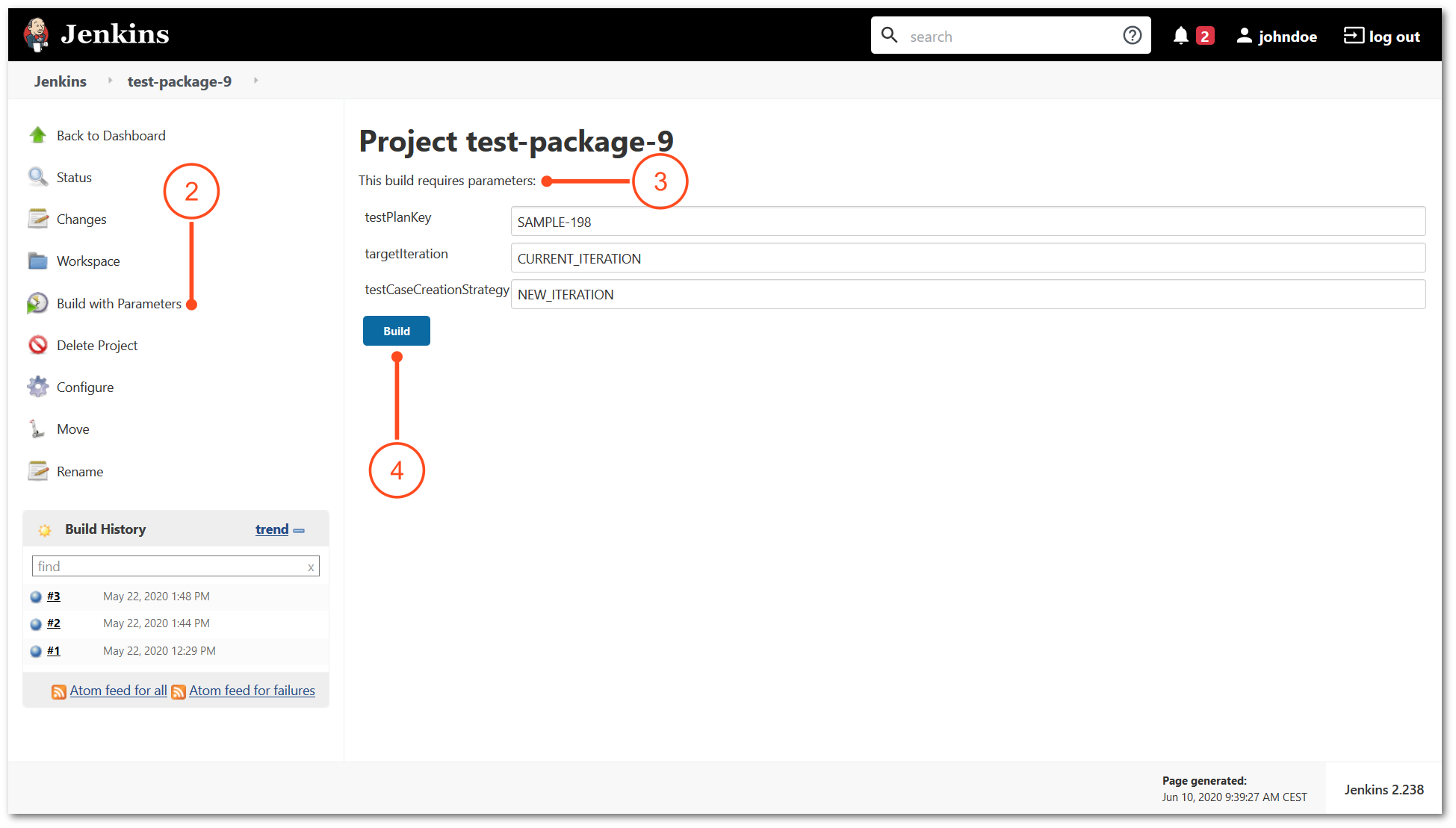 Run automated tests directly from Jenkins manually to TestFLO - Test Managemnet in Jira