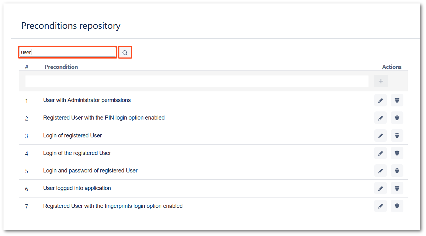 Use preconditions repository in TestFLO Jira Test Management