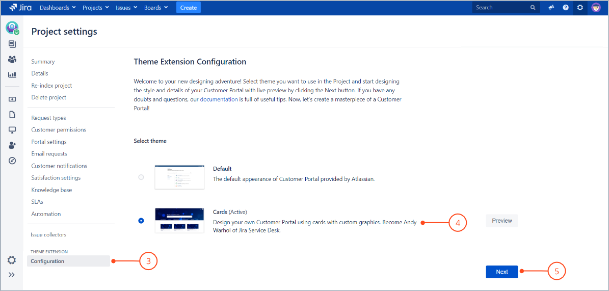Creating custom graphics on the Customer Portal with Theme Extension for Jira Service Management