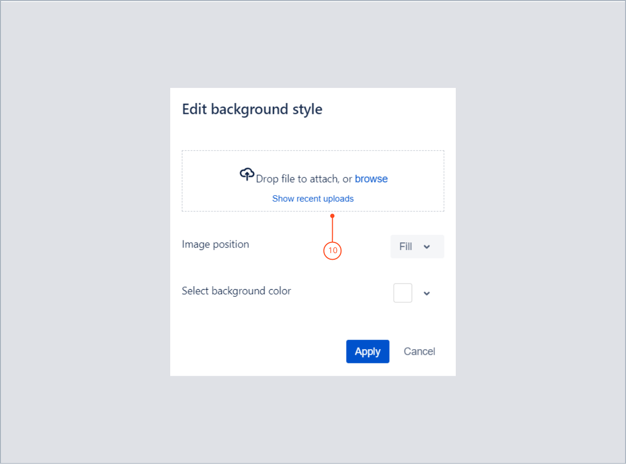 Adding an image in bottom background with Theme Extension for Jira Service Management