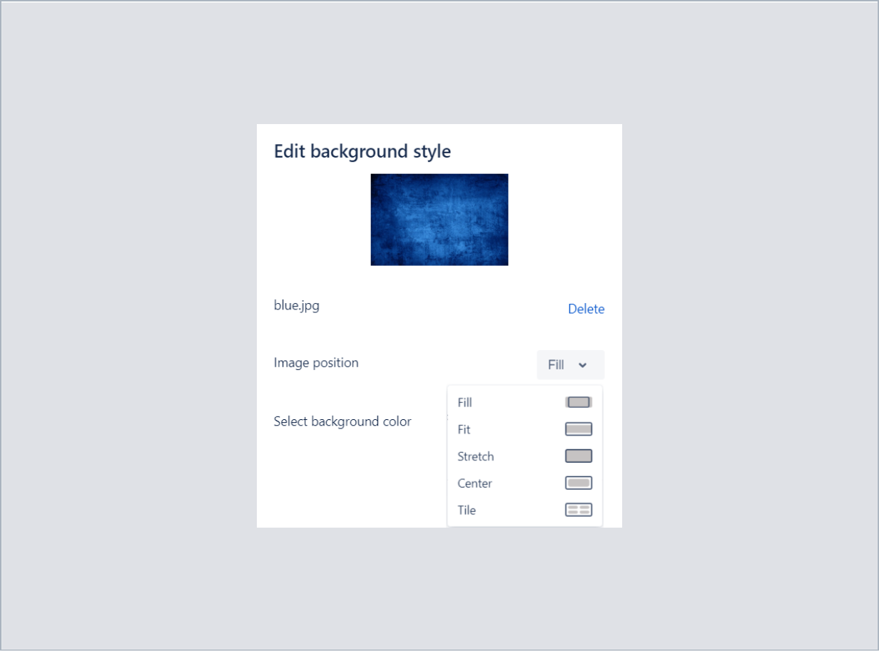 Setting an image position in bottom background with Theme Extension for Jira Service Desk
