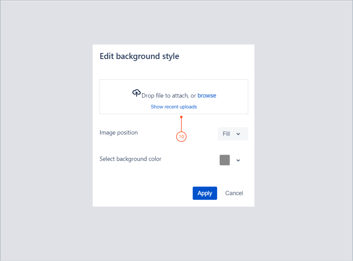Adding an image in top background with Theme Extension for Jira Service Management