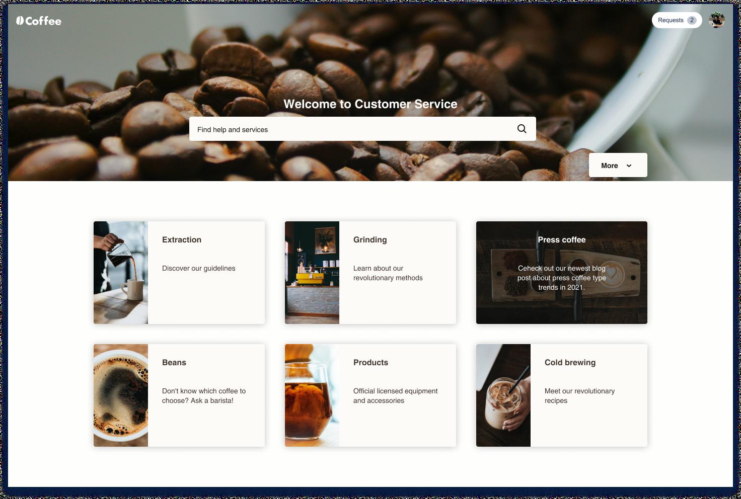 Illustrated and Fresh Customer Portal