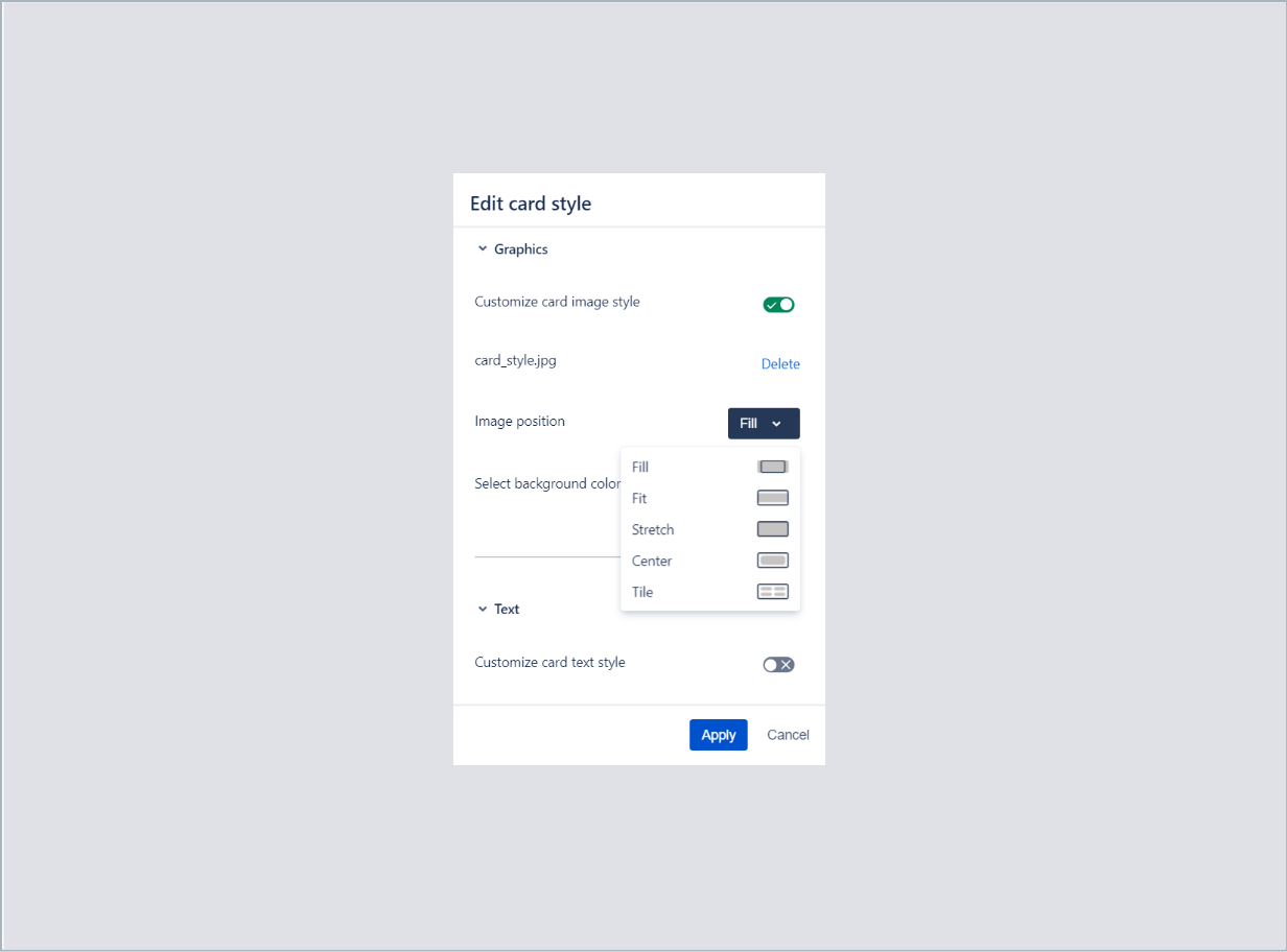 Setting an image position in card with Theme Extension for Jira Service Desk