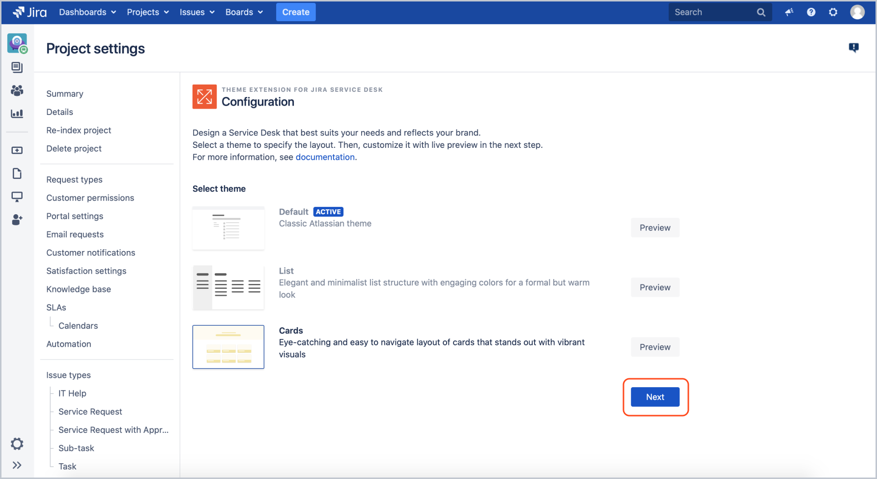 Creating a theme configuration with Theme Extension for Jira Service Management