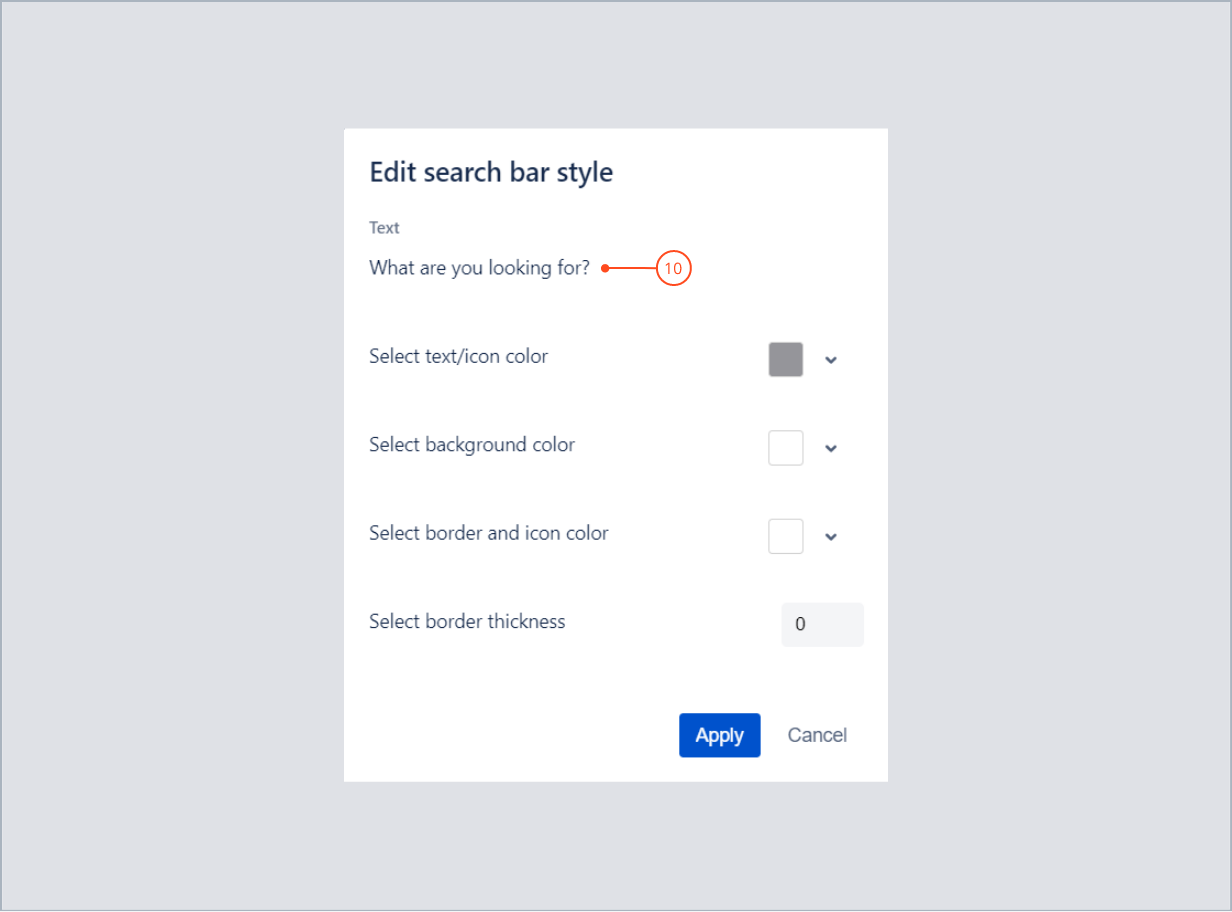 Editing a text content in search bar with Theme Extension for Jira Service Management